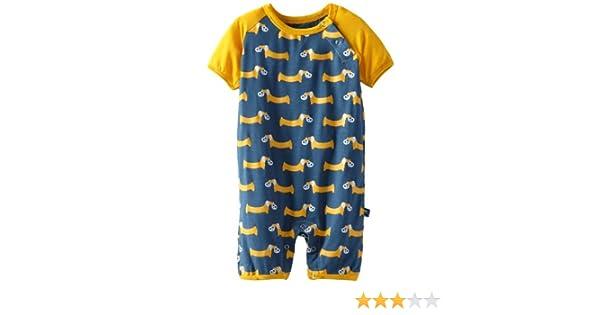 650e05441 Amazon.com  KicKee Pants Baby-Boys Newborn Print Raglan Romper ...