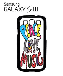 Peace Love and Music Mobile Cell Phone Case Samsung Galaxy S3 White