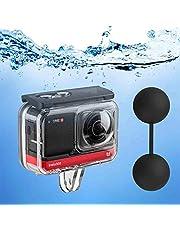 Duik Case voor Insta360 One R 360 Graden Actie Camera, Waterdichte Behuizing Onderwater Duiken Shell 45M/148FT met Duimschroef Accessoire -12 STKS Anti-Fog Insert Kits