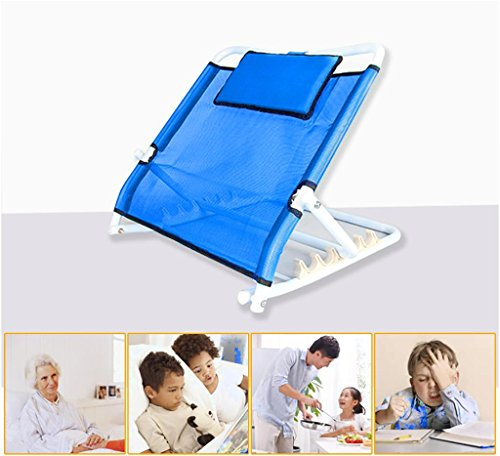 Steel Backrest - HEPQ Backrest Bracket Steel Pipe Bed Bed For The Elderly Care Products Folded Thick Steel Pipe Patient Back , blue
