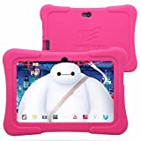 "Dragon Touch 7"" Quad Core Android Kids Tablet, with Wifi and Camera and Games, HD Kids Edition w/ Zoodles Pre-Installed Pink"