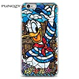 Mosaic Donald Duck iPhone 5C Case Donaldduck Sailor Cover Childrens Animated Cartoon Kid Themed Blue White Black Sailer Saluting Cap Red Yellow Orange Smiling, TPU