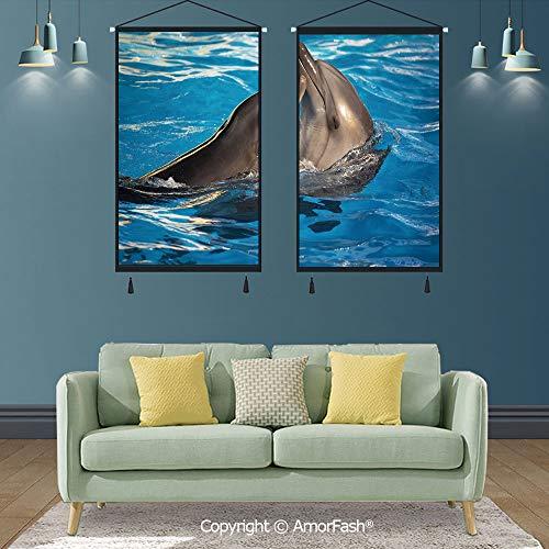 SCOXIXI Dolphin,Modern Salon Theme Mural,17.7