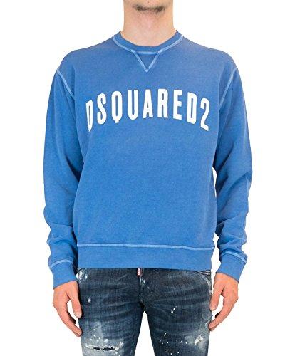 DSQUARED2 Men's Sweatshirt S71GU0187 - Blue, XXL (Mens Dsquared2 Clothing)