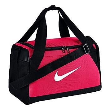 Nike NK Brsla S Duff Sac de Sport de Training (Petite Taille) Mixte Adulte, Rose Rush/Noir/Blanc, 51 x 25.5 x 28 cm, 41 l