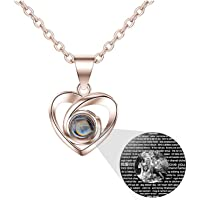 Amazon Price History:a266XDKSJK Custom Photo Projective Necklace, The Memory of Love Nanotechnology Necklace 925 Sterling Silver Girls…