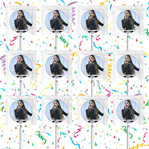 Ariana Grande Lollipops Party Favors Personalized Suckers 12 Pcs