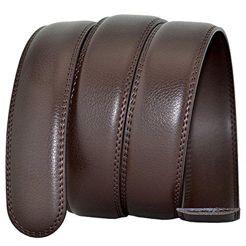 HAHAEMMA Cinturón de Cuero de 35 mm para Hombres sin Hebilla Cinturón de  Trinquete El servicio 620c6f0b1b1