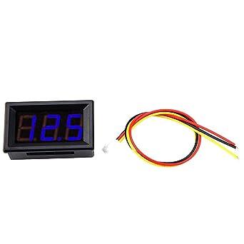 10* Mini DC 0-100V LED Panel Voltmeter 3-Digital Display Voltage Meter US SHIP