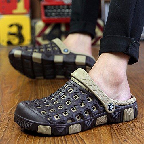 Il nuovo Coppia Tempo libero scarpa Uomini sandali estate mode Buco scarpa Spiaggia sandali ,nero,US=8,UK=7.5,EU=41 1/3,CN=42