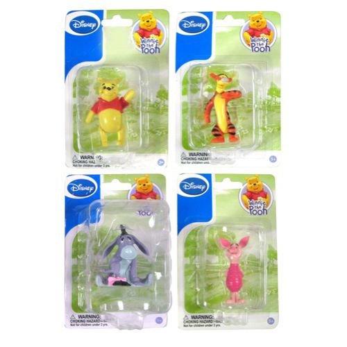 Disney Figurines Winnie the Pooh & Tigger & Eeyore & Piglet (Sold As a Set of 4)
