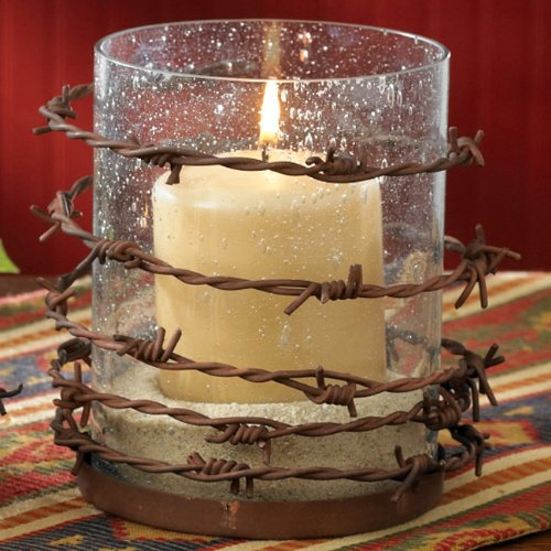 Crystal Forest Loop - Park Designs Barbed Wire Pillar Candle Holder