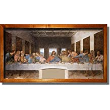 The Original Last Supper By Leonardo Da Vinci Painting Original Picture Made on Stretched Canvas Wall Art Decor Ready to Hang.