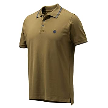 Beretta Trident Men S Corporate Polo Shirt Hunting Brown Shooting