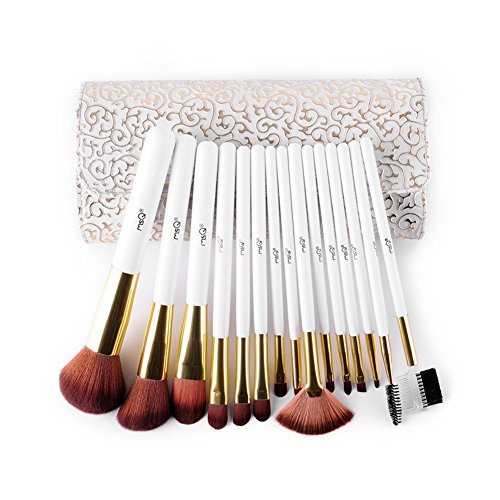 Roman Makeup (15pcs Roman Style Face Makeup Tools Foundation Makeup Brush Set with PU)