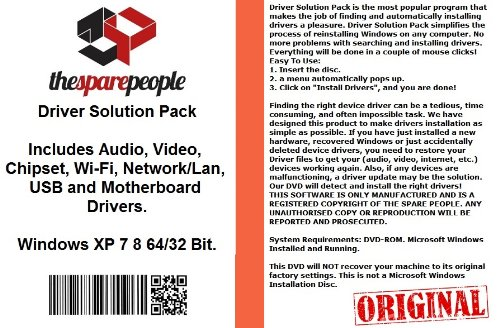 Driver Solution Pack For Toshiba Satellite A215-Sp5816 Notebook/Laptop PC Series Installs Fix Audio Video Chipset Wi-Fi Network/Lan USB Motherboard Drivers- Windows XP Vista 7 8 32/64 Bit DVD Disk ()