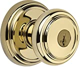 Baldwin Prestige Alcott Entry Knob featuring SmartKey in Lifetime Polished Brass