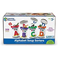 Learning Resources LER6801 Alphabet Soup Sorters, 208 Pieces