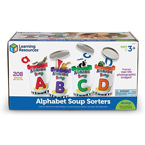 (Learning Resources Alphabet Soup Sorters, 208 Pieces)