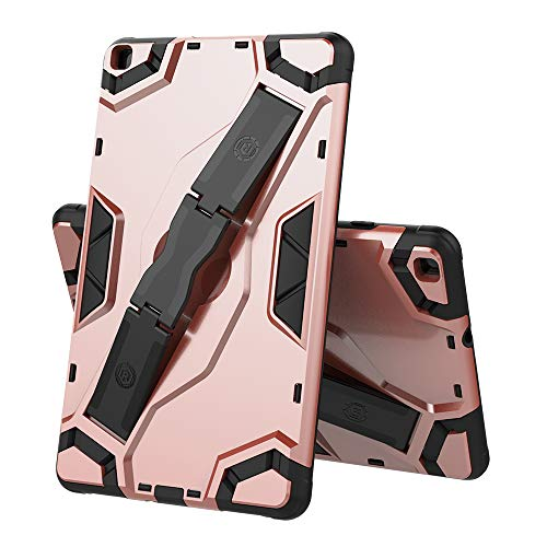 DETUOSI Cover for Samsung Galaxy Tab A 8.0″ Case 2019 (SM-T290/ T295/ T297), Full-Body Armor Protective Shock Proof Case with Handle Hand Kickstand for Samsung Tab A 8.0 inch (2019) Tablet #Rose Gold