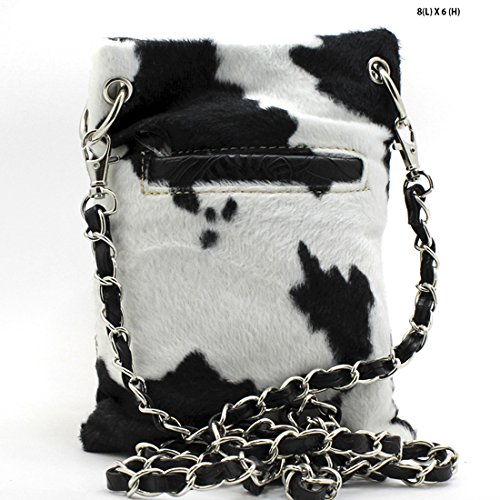 Western Messenger Phone Cow Mini Lily or Fuzzy Lunar Purse CrossBody Buckle Cross Handbag CSwT5faxq