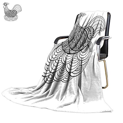 Lightweight Throw blanketnautical Throw blanketHand Drawing Chicken in nest for Adult Coloring Page 71