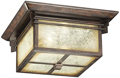 """Hickory Point 15"""" Wide Bronze Outdoor Ceiling Light"""