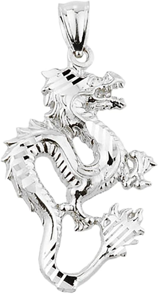 Handmade Dragon Jewelry Sterling Silver Dragon Necklace Bohemian Vintage Finish Zen Dragon Spirit Animal Charm