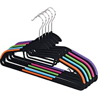 Zoyer Light-Weight Clothes Hangers (30 Pack) S-Shaped Non-Slip Durable Suit Hangers Plastic Hangers