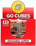 GO CUBES Chewable Coffee by Nootrobox - (80 pieces, 20 ct box of 4 pks) - Assorted Flavors