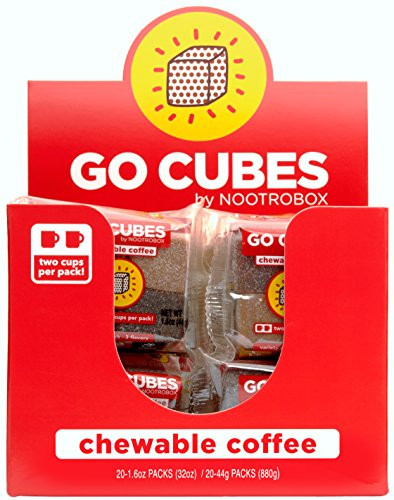 Go Cubes Chewable Coffee By Nootrobox Assorted Flavors 4 Count