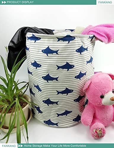 FANKANG Large Sized Toy Bin Stylish Dinosaur Design Canvas /& Linen Fabric Storage Basket Laundry Hamper with Waterproof Coating for Kids Room Dinosaur