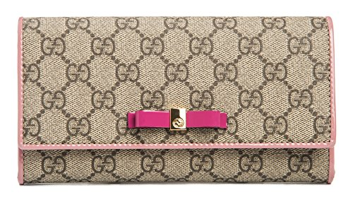 Gucci Beige Brown Signature Leather Wallet Guccissima style Box New #493075 ()