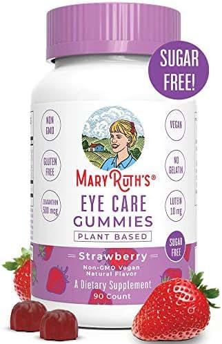 Eye Vitamins – Eye Care Gummy Chewable Supplements – Zeaxanthin, Lutein Multivitamins – Sugar Free Gummies with All Natural Ingredients – Vegan, Paleo Friendly, Celiac Friendly – 45 Day Supply (90 C
