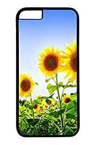 B Sunflowers Slim Hard Cover for iPhone 6 Plus Case ( 5.5 inch ) PC Black Cases