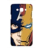 printtech Premium Latest Designer Captain America and Iron Man Printed Back Case Cover for Samsung Galaxy A3 (2014 edition) A300F; A300FU A300F/DS, A300G/DS, A300H/DS , A300M/DS