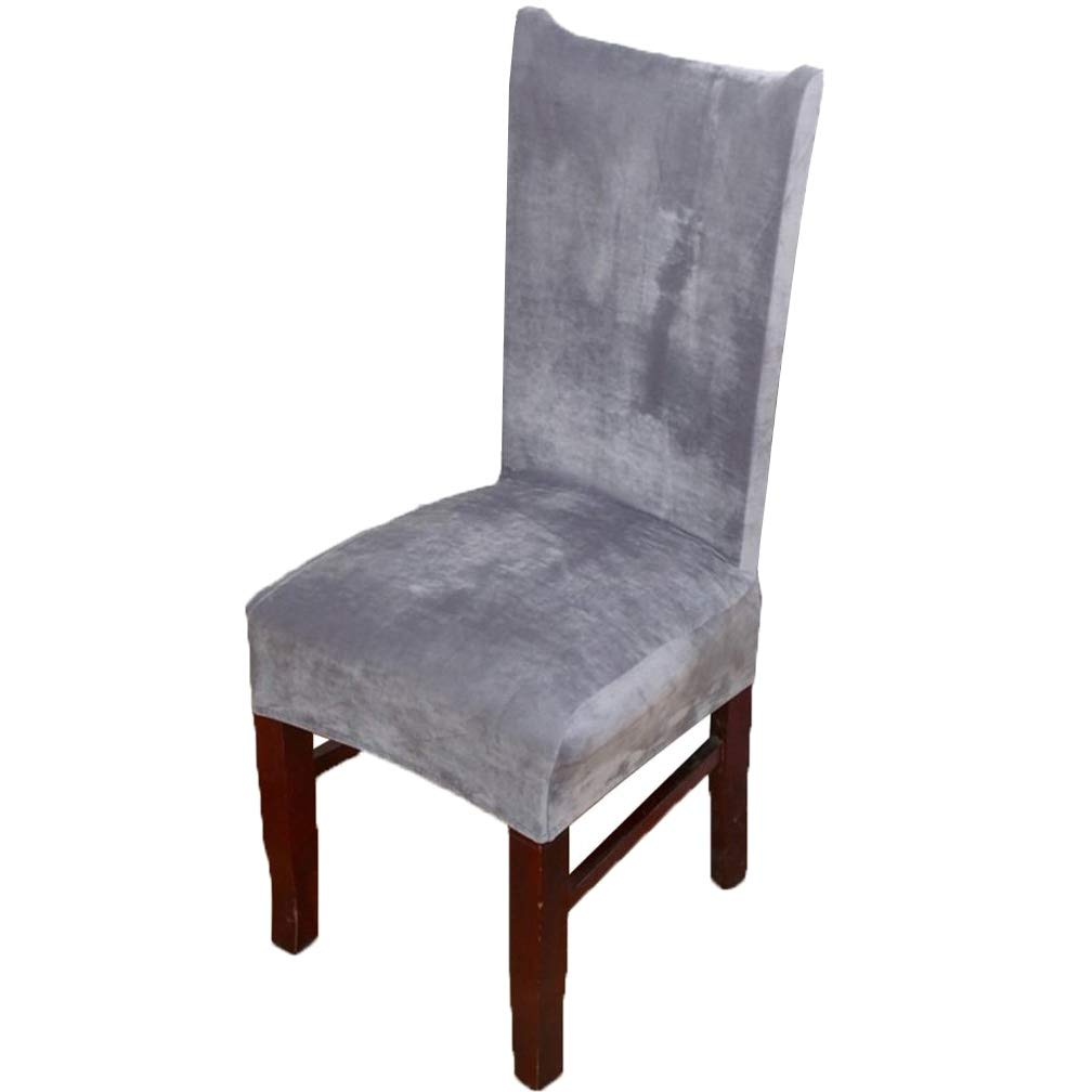 Velvet Stretch Spandex Plush Dining Chair Slipcovers Chair Covers Solid Large Dining Room Chair Protector Home Decor Silver Grey Pack Of 4 Buy Online In Aruba At Aruba Desertcart Com Productid 94416738