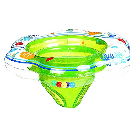 Baby Double Airbags Floating PVC Inflatable Baby Swim Float Seat Swimming Ring (Green)