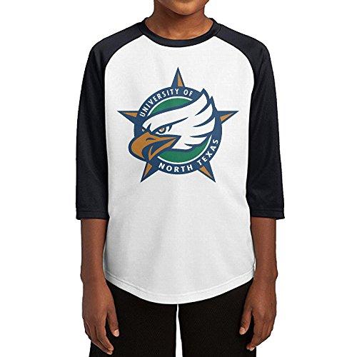 [Hotboy19 Youth Boys University Of North Texas Raglan 3/4 Sleeve T-Shirt Black Size S] (Roomba Costume Pattern)
