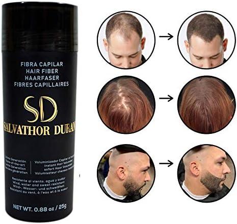 Fibras Capilares Salvathor Duran 25 g - Keratin Fibers - Disimula Alopecia - Cubre Caída del Cabello - Retoca y Crea Volumen del Pelo de Hombres y Mujeres - Hair Fiber (Castaño Claro): Amazon.es: Belleza