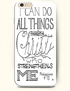 iPhone Case,OOFIT iPhone 6 (4.7) Hard Case **NEW** Case with the Design of I can do all things through Christ who strengthens me Philippians 4:13 - Case for Apple iPhone iPhone 6 (4.7) (2014) Verizon, AT&T Sprint, T-mobile