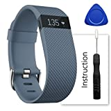 ACBEE For Fitbit Charge Hr Band,Contains instructions,Perfect Charge Hr Band, Make Your Fitbit Charge Hr New Look(Slate, Large)