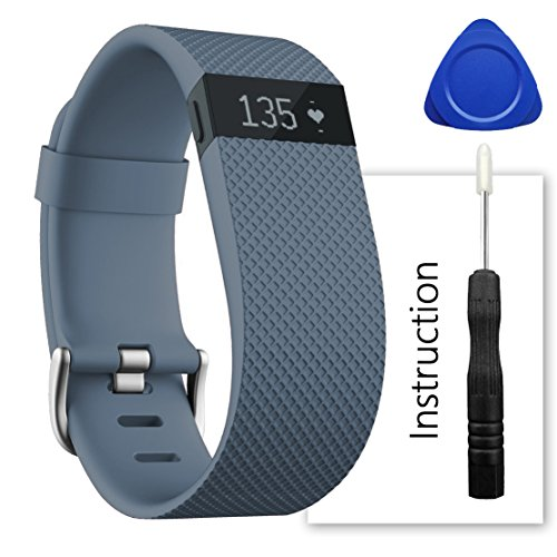 For Fitbit Charge Hr Band,Contains instructions,Perfect Charge Hr Band, Make Your Fitbit Charge Hr New Look(Slate, Small)