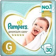 Fraldas Pampers Premium Care G 30 Unidades, Pampers