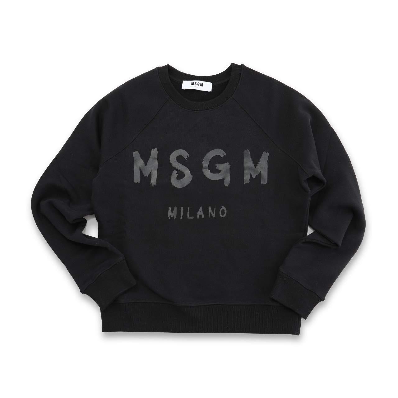 MSGM エムエスジーエム 2541 MDM89 長袖 スウェット スエット トレーナー ロゴ 裏起毛 カラー01/ホワイト [並行輸入品] B07GBVRZ82 XS|99/ブラック 99/ブラック XS