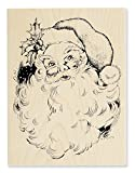 Stampendous Wood Stamp, Jolly Santa