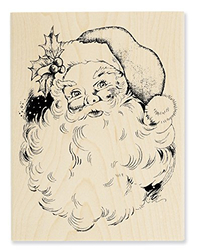 Stampendous Wood Stamp, Jolly Santa by STAMPENDOUS