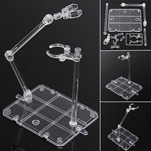 Aranher(TM) Action Base Suitable Clear Display Stand For 1/144 HG/RG Gundam Figure Model Toy