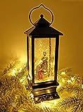 Eldnacele Nativity Musical Snow Globe Lantern