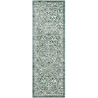 Maples Rugs Runner Rug - Pelham 2 x 6 Non Skid Hallway Carpet Entry Rugs Runners [Made in USA] for Kitchen and Entryway, Light Spa